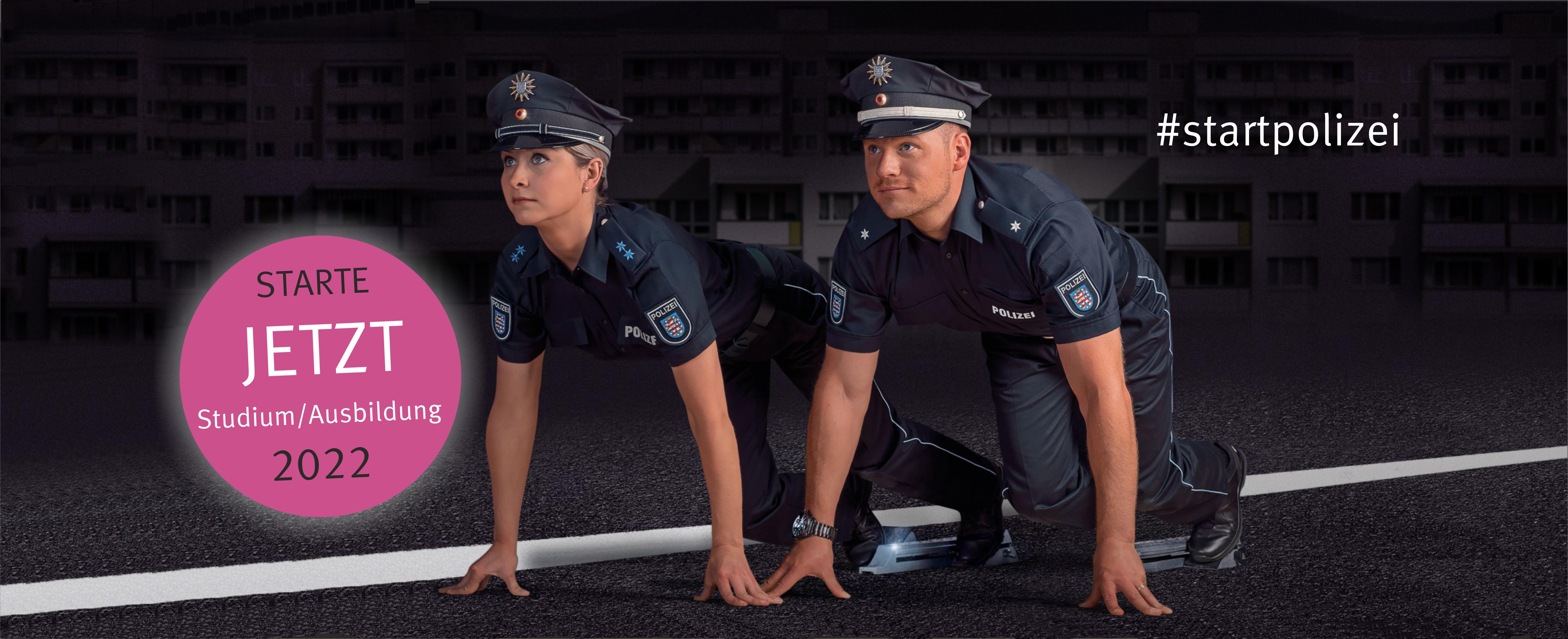 Zwei Polizisten in den Startlöchern